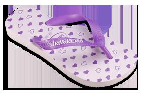 Havaianas lilla hjerter