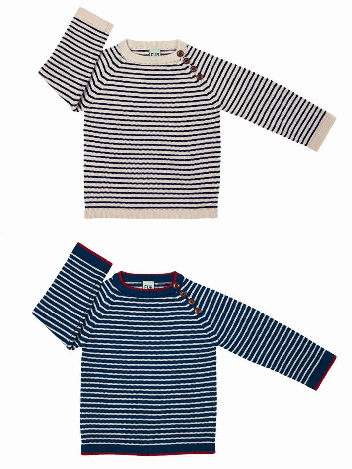 1011 A-W sweater ecru-navy-vert