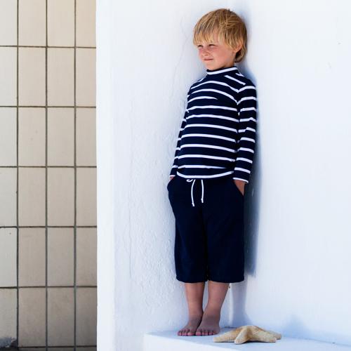 Blue long shorts child