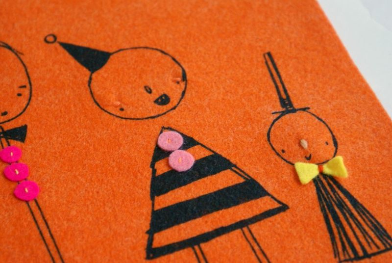 Orange 'line up'close up 2