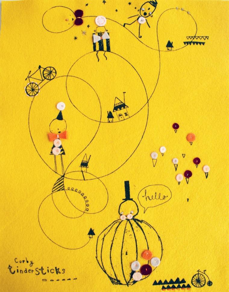Sunshine yellow print