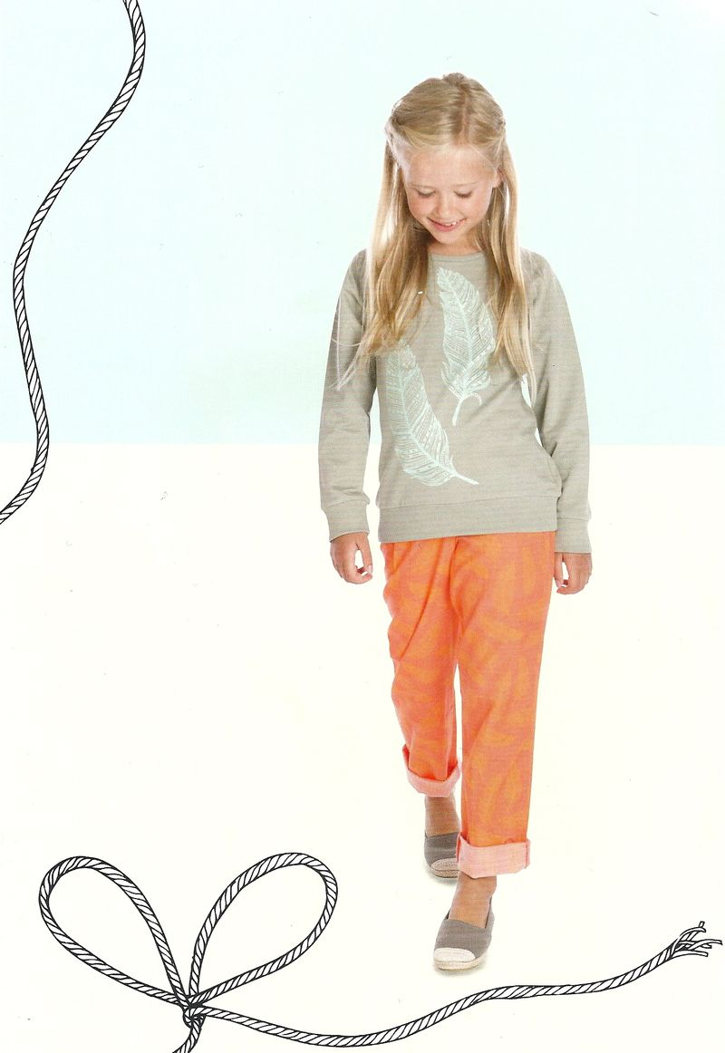 Little pieces sweatshirt med fjer